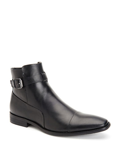 Calvin Klein Rafael Textured Dress Boots-BLACK-8