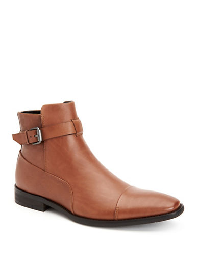 Calvin Klein Rafael Textured Dress Boots-TAN-10