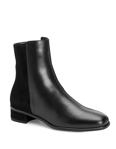 Aquatalia Lucia Leather Booties-BLACK-EUR 36/US 6