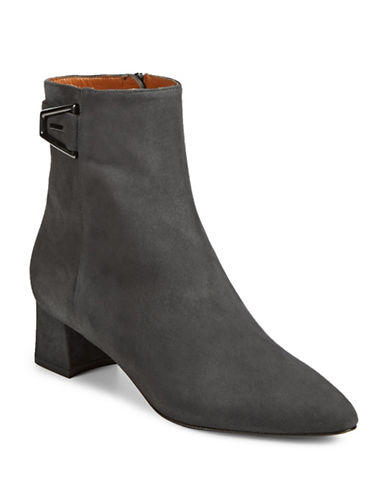 Aquatalia Pina Point Toe Booties-ANTHRACITE-EUR 40/US 10