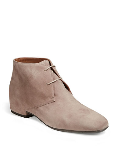 Aquatalia Womens Uliva Suede Desert Boots-MUSHROOM-EUR 36/US 6