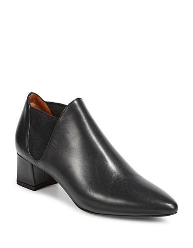 Aquatalia Poppy Slip-On Booties-BLACK-EUR 39/US 9