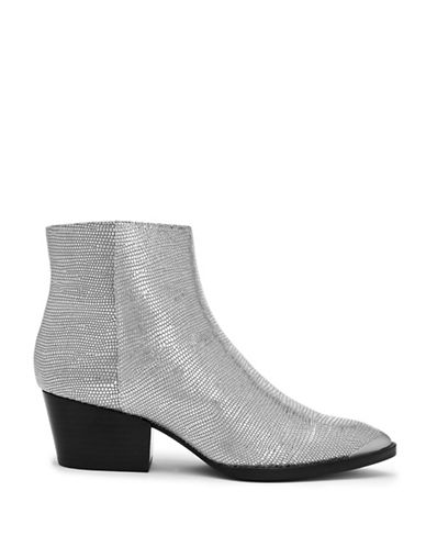 Calvin Klein Narice Leather Booties-SILVER-7.5