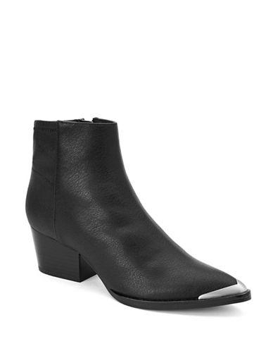 Calvin Klein Narice Leather Booties-BLACK-10