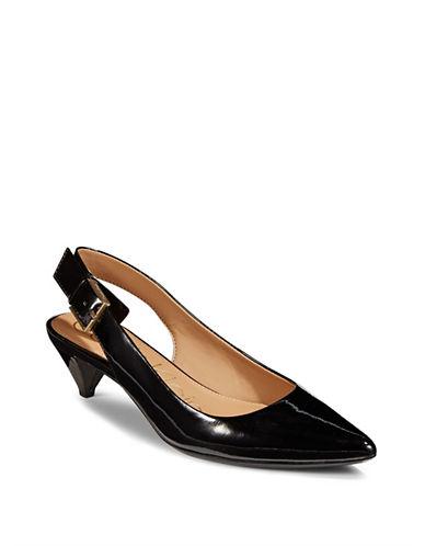 Calvin Klein Lara Patent Slingback Heels-BLACK-8