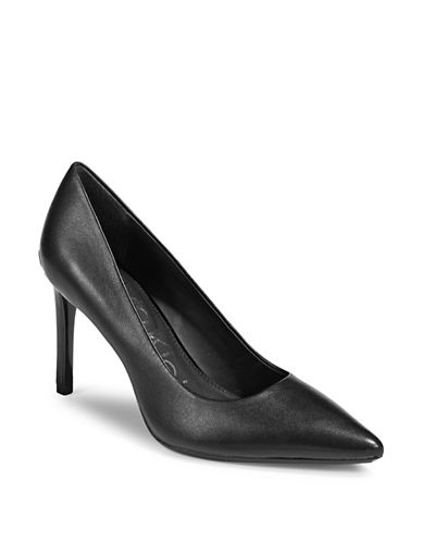 Calvin Klein Ronna Point Toe Pumps-BLACK-9
