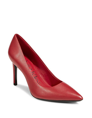 Calvin Klein Ronna Point Toe Pumps-RED-6