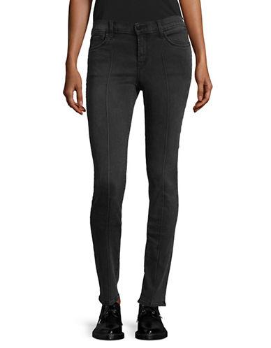 J Brand Sanctify Pintuck Skinny Jeans-BLACK-29