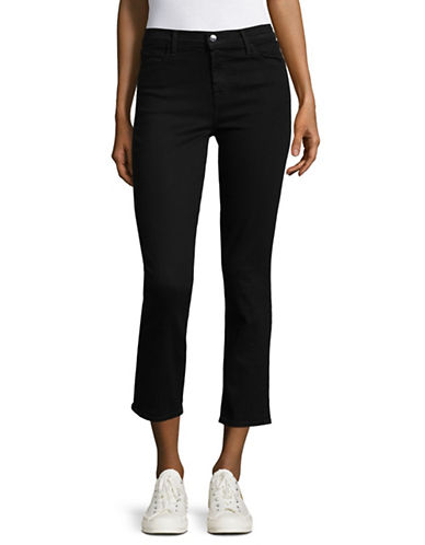 J Brand Ruby High Rise Crop Jeans-BLACK-28