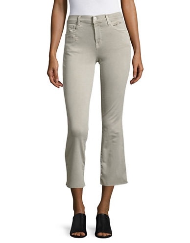 J Brand Cropped Boot Cut Jeans-GREY-26