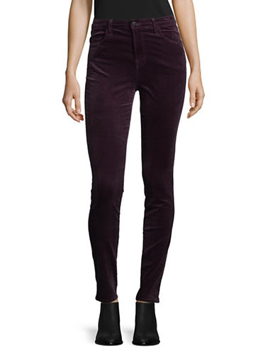 J Brand Maria Velvet Skinny Pants-PURPLE-26