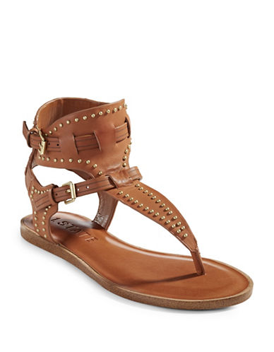 1 State Lamanna Studded Leather Sandals-TAN-8