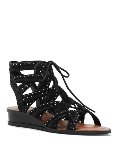 1 State Maygan Leather Wedge Sandals-BLACK-5.5