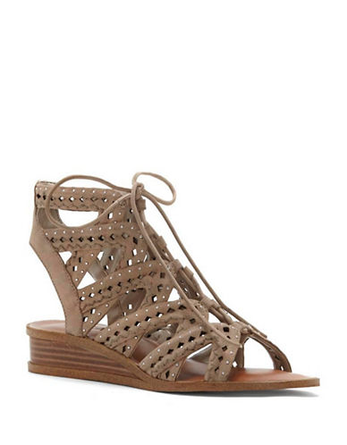 1 State Maygan Leather Wedge Sandals-STONE-8.5