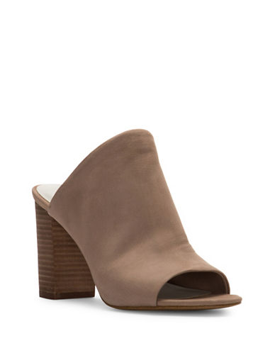 1 State Stacked-Heel Open-Toe Mules-STONE-5.5