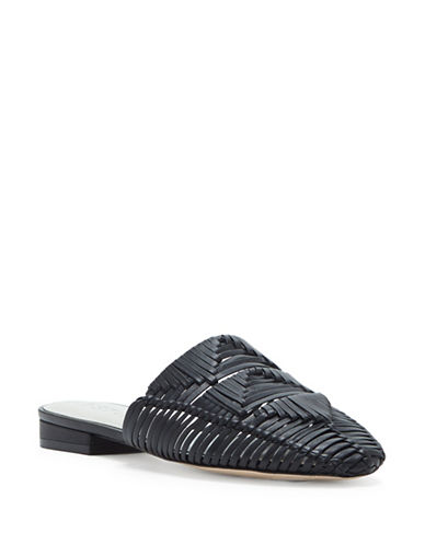 1 State Syre Woven Leather Mules-BLACK-5