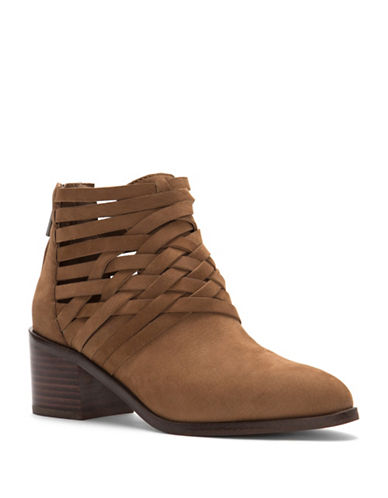 1 State Iliza Woven Booties-BROWN-7.5