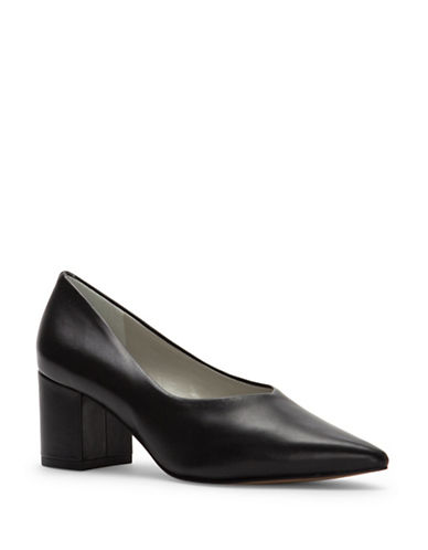 1 State Jact Block Heel Leather Pumps-BLACK-9.5