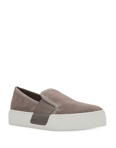 1 State Womens Waylan Slip-On Flatform Sneakers-FOG-9.5