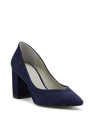 1 State Saffy Suede Pumps-BLUE-8.5