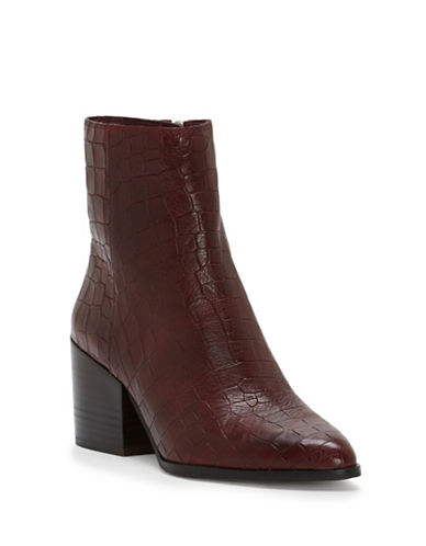 1 State Jahmil Leather Booties-OX BLOOD-6.5