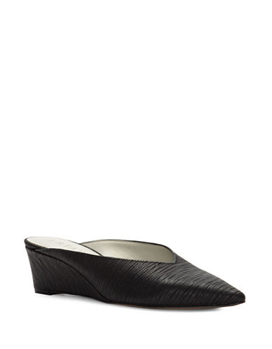 1 State Leanne Leather Wedge Mules-BLACK-10