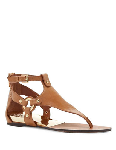 Vince Camuto Averie Leather Thong Sandals-BROWN-7.5