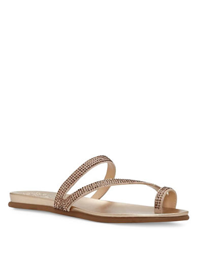Vince Camuto Evina Jewel Leather Sandals-CHAMPAGNE-9