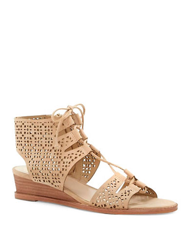 Vince Camuto Retana Suede Wedge Sandals-NATURAL-8.5