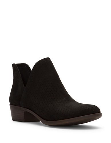 Lucky Brand Baley Cut-Out Booties-BLACK-9.5