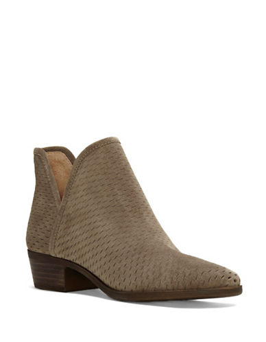 Lucky Brand Baley Cut-Out Booties-BROWN-9.5