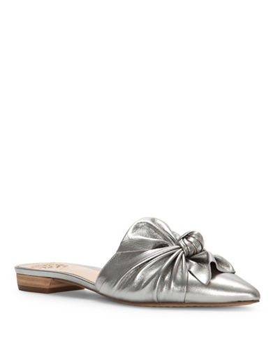 Vince Camuto Marketa Leather Mules-PEWTER-8.5
