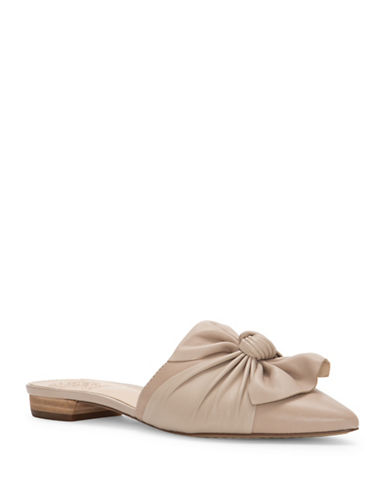 Vince Camuto Marketa Leather Mules-BEIGE-7.5