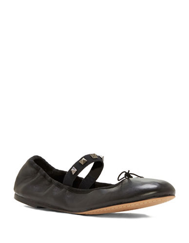 Vince Camuto Prilla Leather Ballet Flats-BLACK-8.5