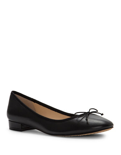 Vince Camuto Adema Leather Ballet Flats-BLACK-7