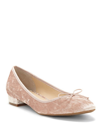Vince Camuto Adema Leather Velvet Flats-PINK-6