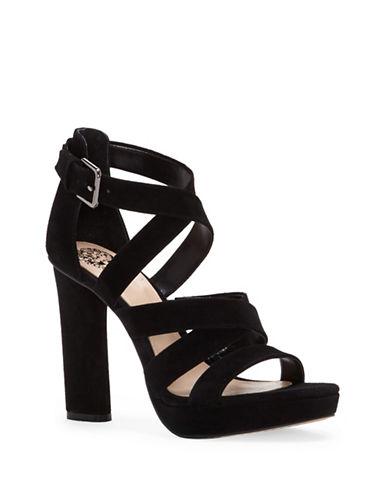 Vince Camuto Catyna Suede Platform Sandals-BLACK-7