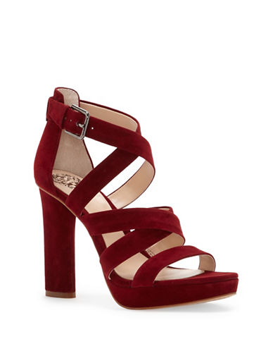 Vince Camuto Catyna Suede Platform Sandals-WINE-7.5