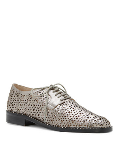 Vince Camuto Lesta Leather Oxfords-GREY-6.5