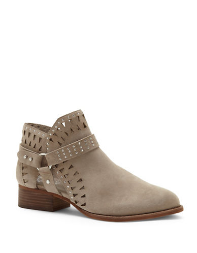 Vince Camuto Calley Suede Booties-TAUPE-7