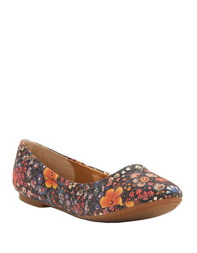Lucky Brand Emmie Ballet Flats-BLACK FLORAL-6.5