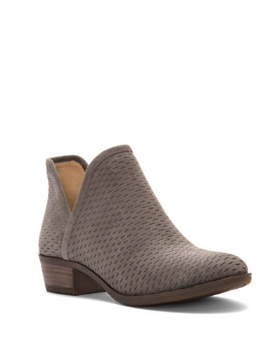 Lucky Brand Baley Cut-Out Booties-STORM-7.5