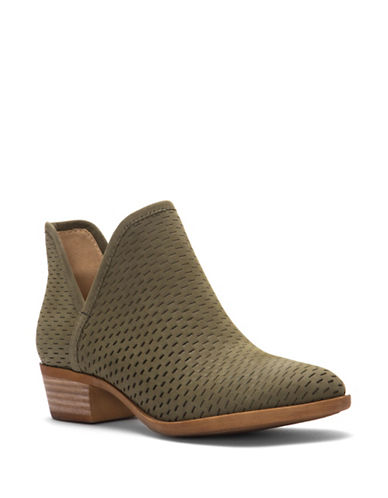 Lucky Brand Baley Cut-Out Booties-GREEN-5.5