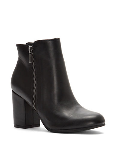 Lucky Brand Shaynah Leather Ankle Boots-BLACK-6