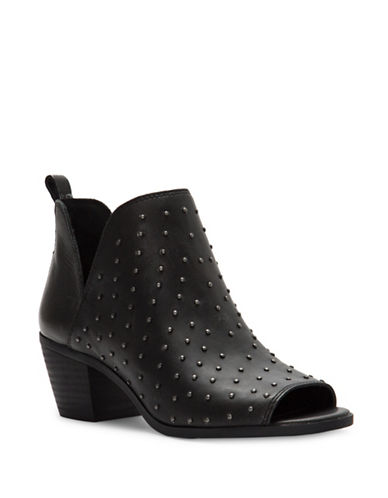 Lucky Brand Barlenna Leather Booties-BLACK-5.5