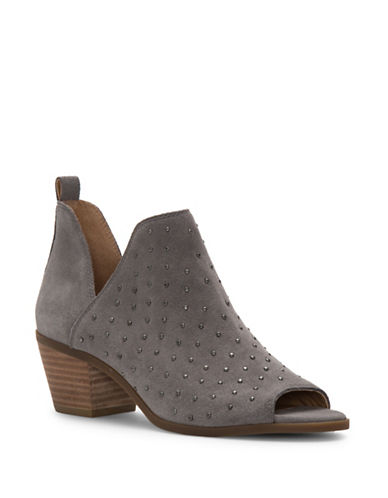 Lucky Brand Barlenna Suede Booties-STEEL GREY-5.5