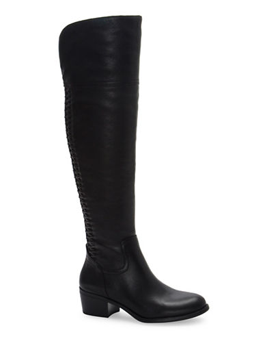 Vince Camuto Brilley Leather Riding Boots-BLACK-5