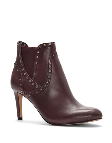 Vince Camuto Consheta Leather Booties-RED-9.5