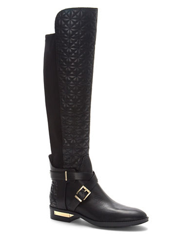 Vince Camuto Patira Wide Calf Knee-High Boots-BLACK-10