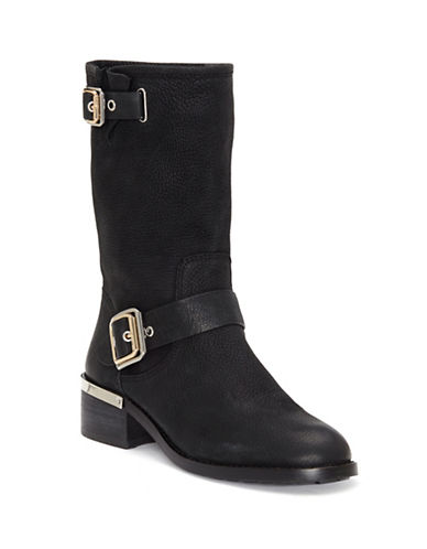 Vince Camuto Windy Leather Mid-Calf Boots-BLACK-8.5